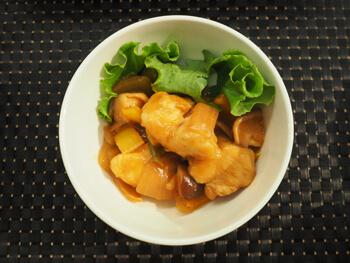 黒酢を使った酢鶏