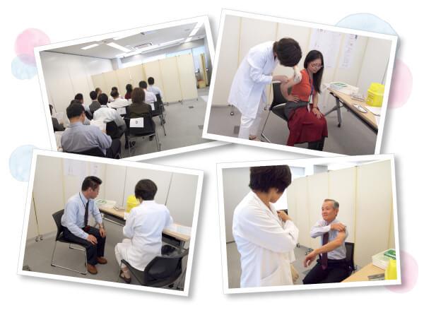 サクラファインテックジャパンさんのMRワクチン企業接種の様子