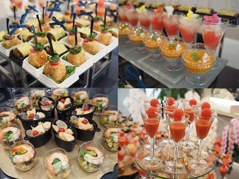 パーティに彩りを添えてくれたのは、この素晴らしいお料理の数々!
