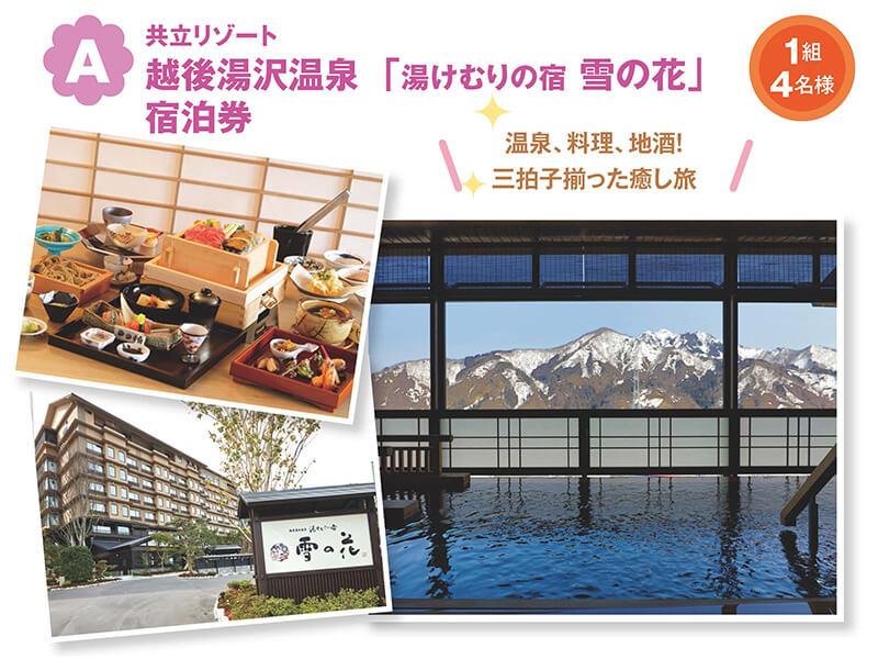 共立リゾート 越後湯沢温泉「湯けむりの宿 雪の花」 宿泊券